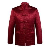 Chinese Traditional Men's Silk Mandarin Collar Jackets Coats Dragon M L XL XXL XXXL