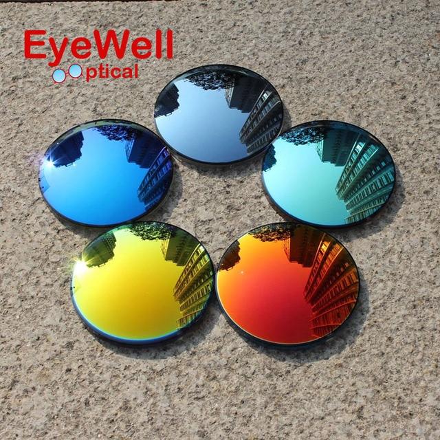 1.49 Мода Красочные Поляризованные UV400 Зеркало Отражающей Солнечные Очки По Рецепту Линзы Вождение Рыбалка Открытый Близорукость Очки
