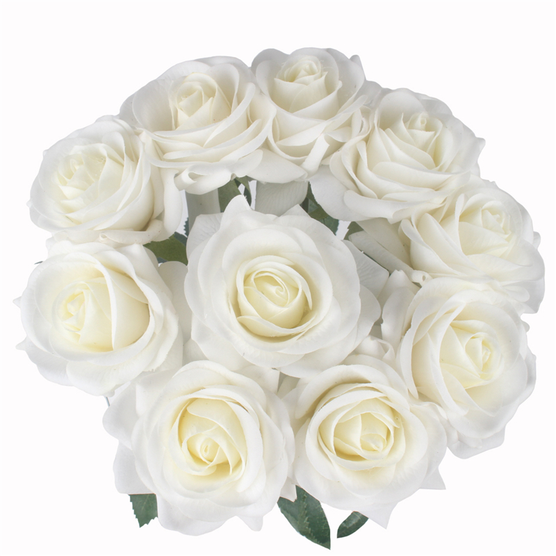 JAROWN Artificial Real Touch Hand Feel Rose Flowers For Valentine`s Day Preparation Wedding Decoration Home Decor (35)