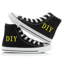 DIY Shoes Customized Image Logo Canvas Shoes