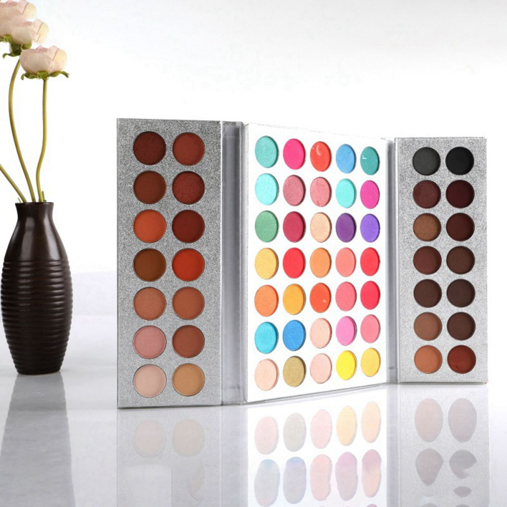 63 Colors Matte Shimme Eyeshadow Palette Glitter makeup Waterproof Highly Pigmented Power Cosmetics