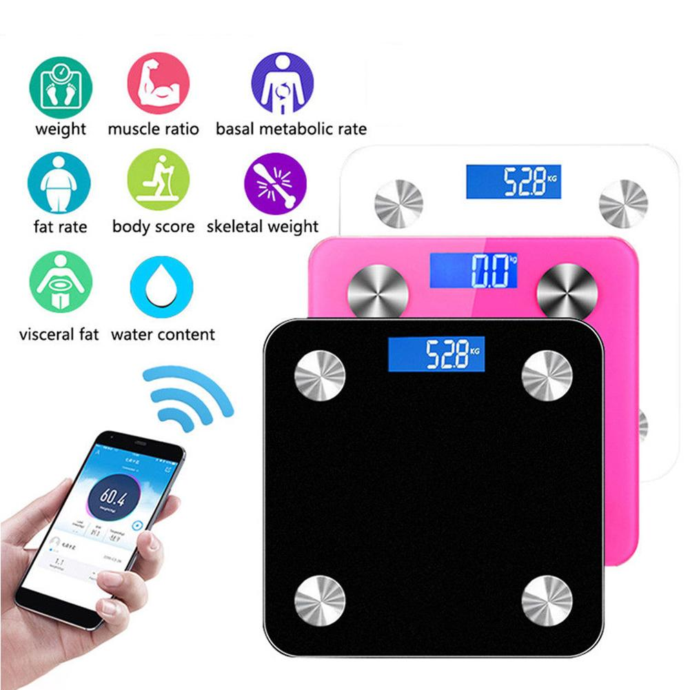 HOT SALE 180kg Bluetooth Digital Bathroom Body Fat Scales Electronic Fitness Analyzer(China)