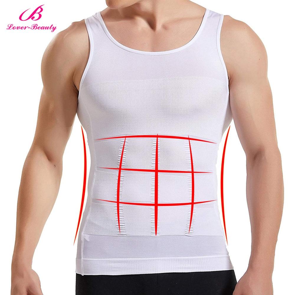 Men Slimming Body Shaper Tummy Control Shapewear Corset Vest Compression Elastic Slim Muscle Tank Top Weight Loss Underwear