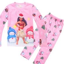 Baby Clothes Girls font b Christmas b font Pajamas Long Sleeve Boys Sleepwear pyjamas children Moana