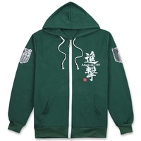 New Arrival Japanese Anime Shingeki no Kyojin Attack on Titan Jacket Hoodie Cosplay Costume Coat 2 Style M/L/XL/XXL For Unisex