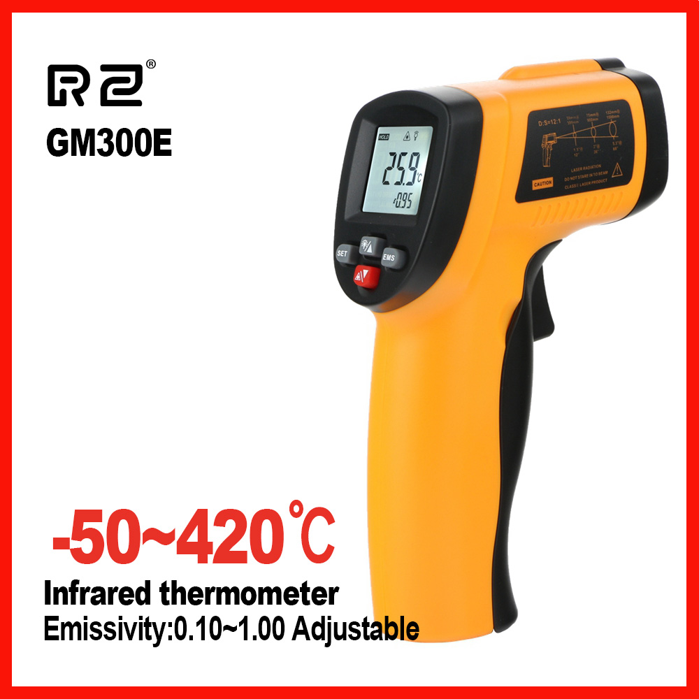 New IR Infrared thermometer High precision LCD display thermal imager handheld temperature meter RZ GM300E 550E цена
