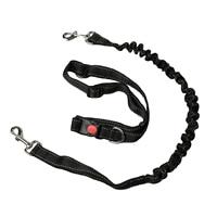 Hands Free Nylon Dog Leash Collar Lead With Waist Belt Adjustable Elastic Lead Pet Harness Leash