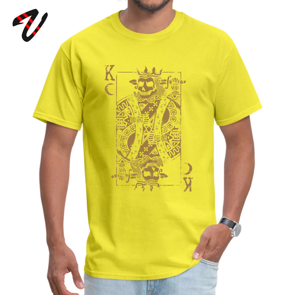 Suicide King Printed T Shirts for Boys 100% Cotton Summer Fall T Shirt Casual Tops Shirts Short Sleeve On Sale Round Neck Suicide King 30090 yellow