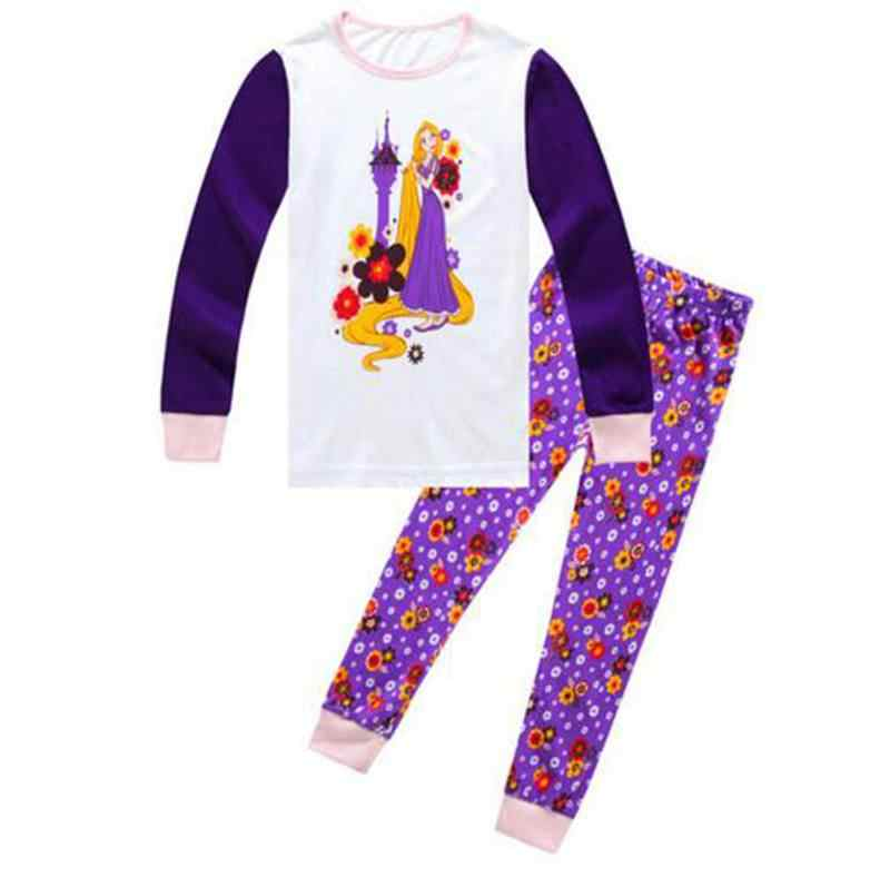 Girls Pajama Sets Cartoon baby girls Clothing Sets For Girls Long Sleeve t-Shirts + Pants 2PCS Suits cotton Kids Clothing LP020