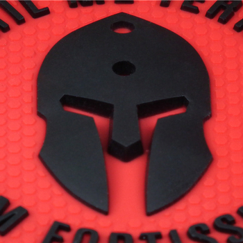 Nihil Me Terret Quam Fortissimus Patch Rubber PVC Molon Tactical Spartan STICK-ON armour MORALE Spartacus patches for Clothes