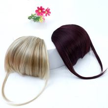 цена на AOSI WIG Bangs Clip in Hair Extensions Front Neat Bang Fringe One Piece Striaght Hair With High Temperature Synthetic Fiber Hair