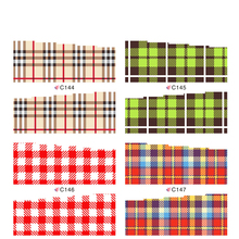 Mix water transfer nail sticker with Plaid stripeson full cover nail sticker nail sticker decals art design Nail Art