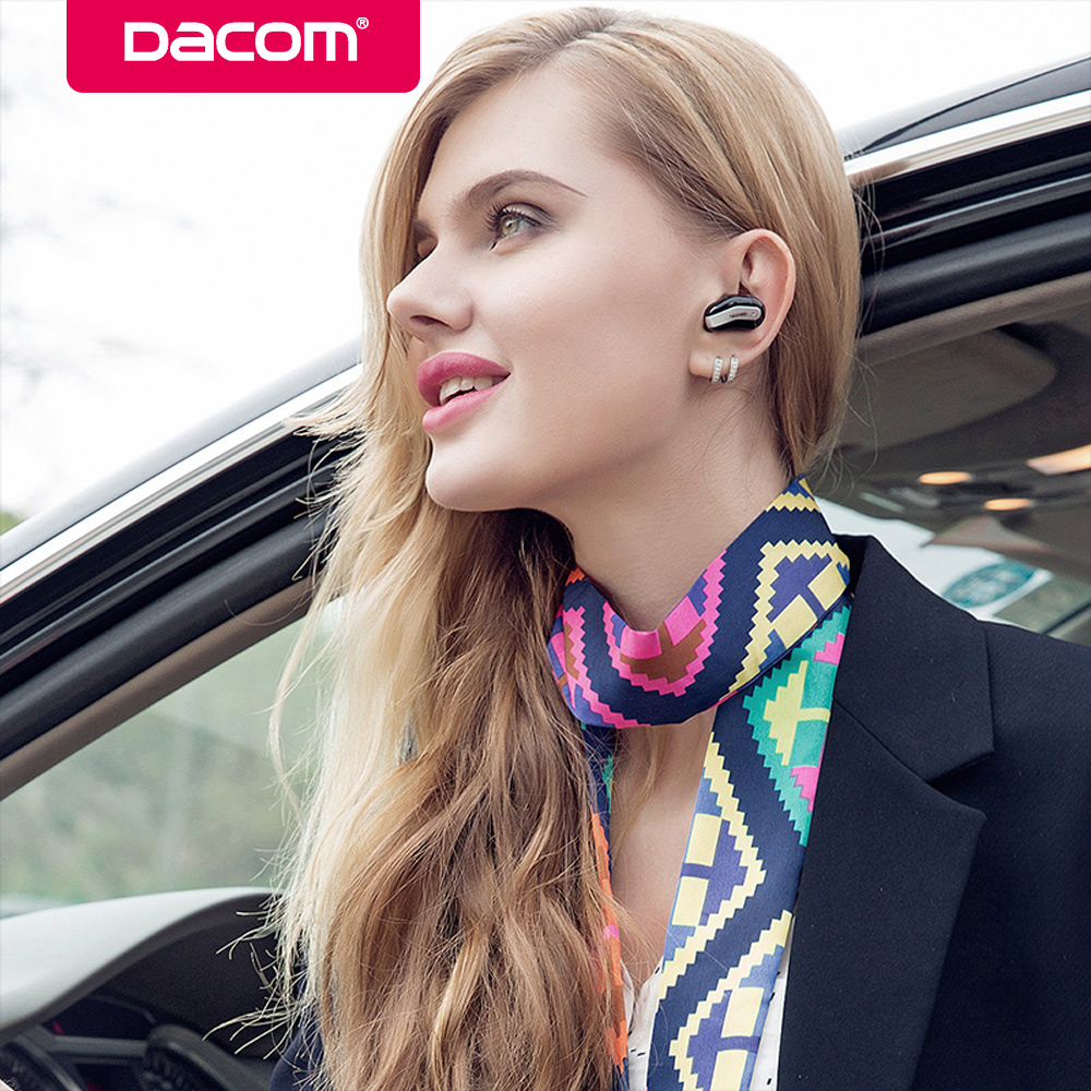 Dacom K8 Single Earbuds Earpiece Mini Wireless Headphones Headset Cordless 4.1 Bluetooth Earphone in Ear buds with Mic for Phone qcy q12 mini bluetooth earphone single earbuds with mic