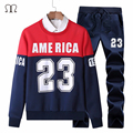 tracksuits sportswear men 2016 New Arrival Men's Tracksuit  Warm Sweatshirt Set Cardigan Printed Hoodies Track Suit 4XL Male