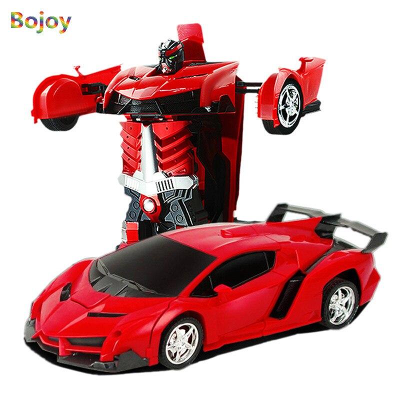 Juguete del coche del RC Control remoto transformación robot modelo deformación RC vehículo deportivo Juguetes para niños Regalo de Cumpleaños de los niños