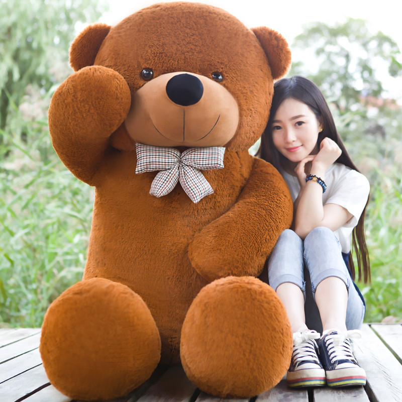 Giant teddy bear 200cm/2m large big stuffed toys animals plush life size kid children baby dolls girl Christmas valentine gift fancytrader biggest in the world pluch bear toys real jumbo 134 340cm huge giant plush stuffed bear 2 sizes ft90451