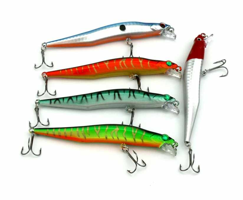 FIRESNAKE 2ตะขอร้อนขายตกปลาแม่น้ำล่อ12เซนติเมตร10กรัมทะเลสาบกระแสปากอลิซเหยื่อ5ชิ้น/ล็อตฟรีการจัดส่งสินค้า