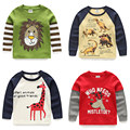 Shell children's clothing spring cartoon child children's male clothing autumn baby child long-sleeve T-shirt basic shirt top