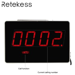 RETEKESS Four-Digit Display Receiver Host Voice Reporting Broadcast for Wireless Restaurant Waiter Calling System 433.92MHz