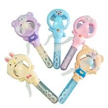 Hot 2 in 1 Bubble Fan Machine Kids Baby Bath Water Toy Hand Bubble Maker Nursery Bathtub Bubble Summer Toys Children Baby Gift
