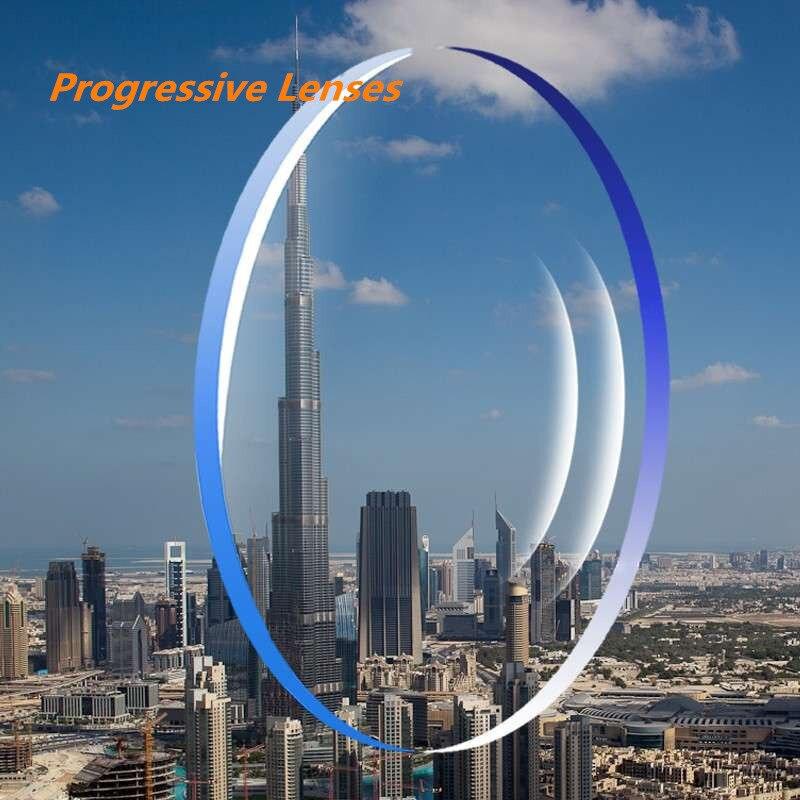Lentilles de Prescription progressives à indice 1.56 lentilles de verres asphériques pour myopie/hyperopie/presbytie lentilles de lunettes avec revêtement