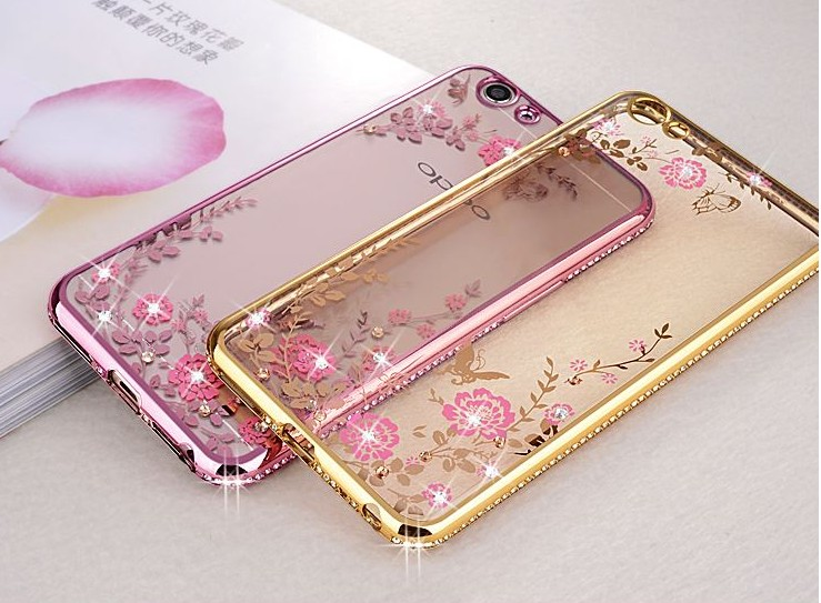 new concept 565f7 0c225 US $4.25  Luxury Diamond Flowers Pattern Back Cover Soft TPU Case For OPPO  R17 pro R15 R11S R11 plus R9 F1 R7 R7S F1S A31T A37 A71 A39 F9-in Fitted ...