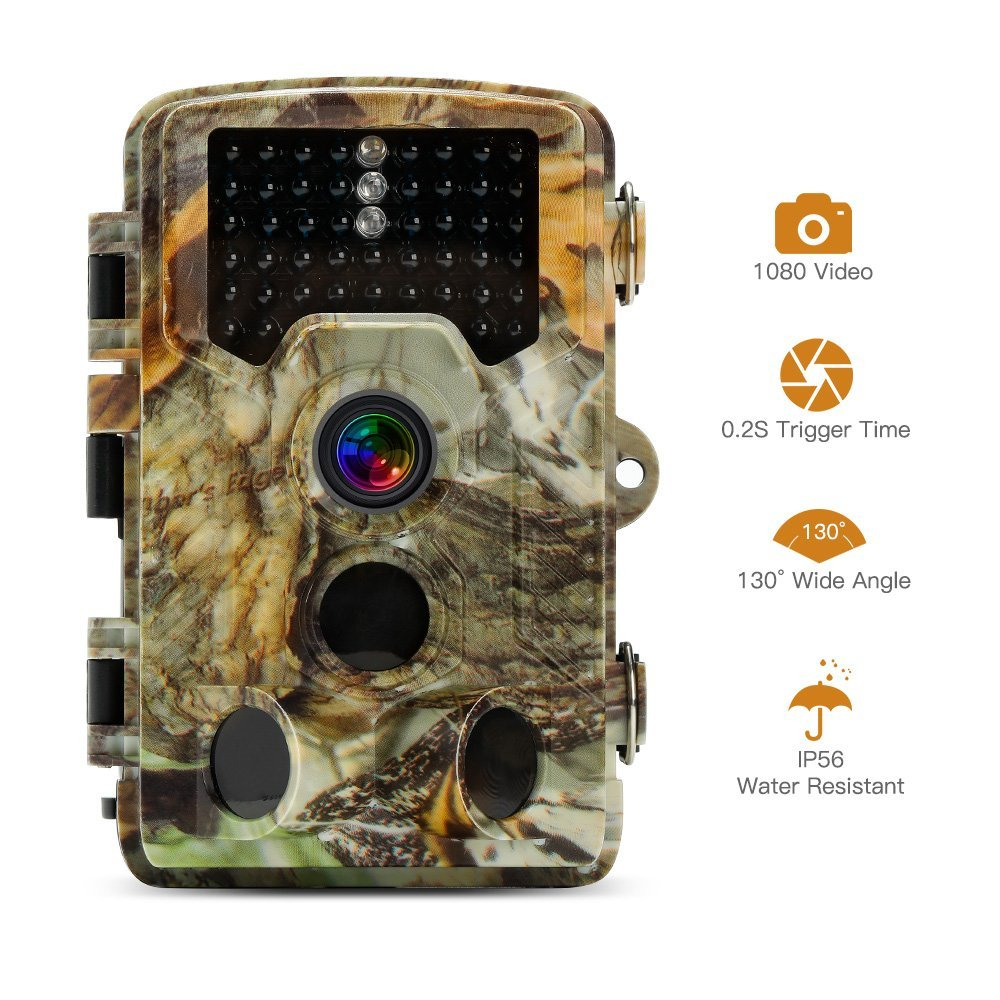 Full HD 16MP Infrared Hunting Camera Night Vision 0.2-0.6S Trigger 46 IR LEDs IR Scouting Trail Cameras trap IP66 Waterproof
