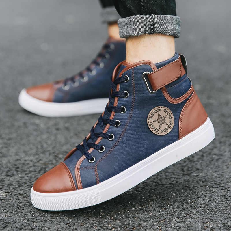 ad5d7a6b58676 ... Hot 2019 Men's Large Retro Ankle Boots Autumn Winter British Fashion  Big Size Men Buckle High ...