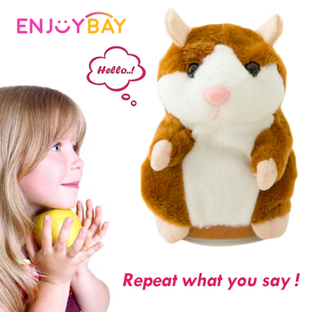 Enjoybay Cute Talking Hamster Plush Toys Electronic Speak Pets Talk Sound Record Repeat Plush Toy Funny Educational Toy for Kids hamster ball electric toy plush hamster electric toys scroll walk little toy animal for children gift electronic pets toy