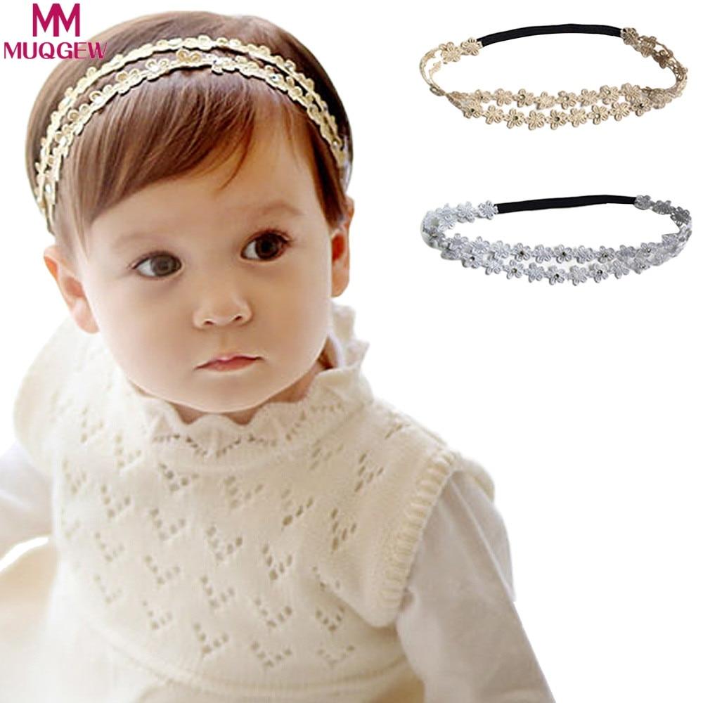 Rhinestone Headband Hairband Baby Girls Flowers Headbands Hair Accessories