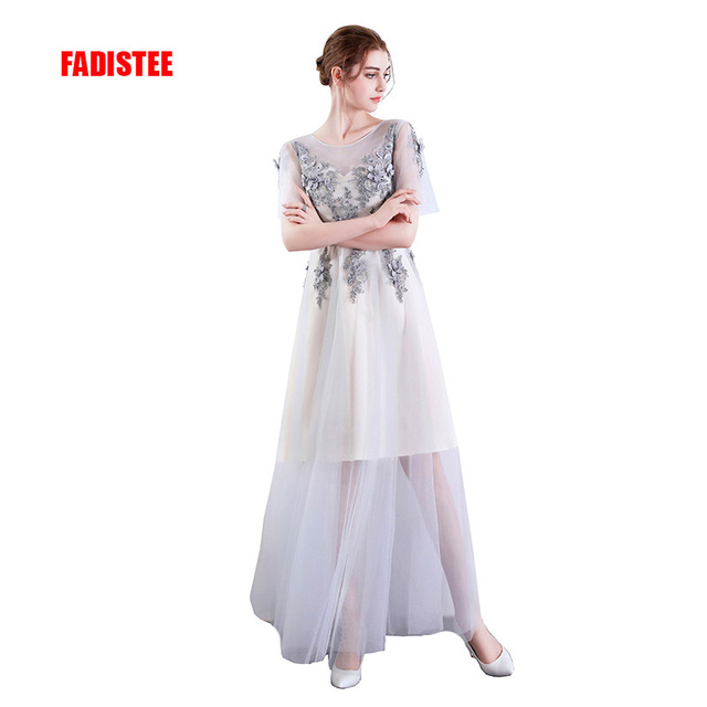 FADISTEE New arrival party evening dresses prom dress Vestido de Festa  A-line appliques gown lace beading dress flowers prom 82828677e9ab
