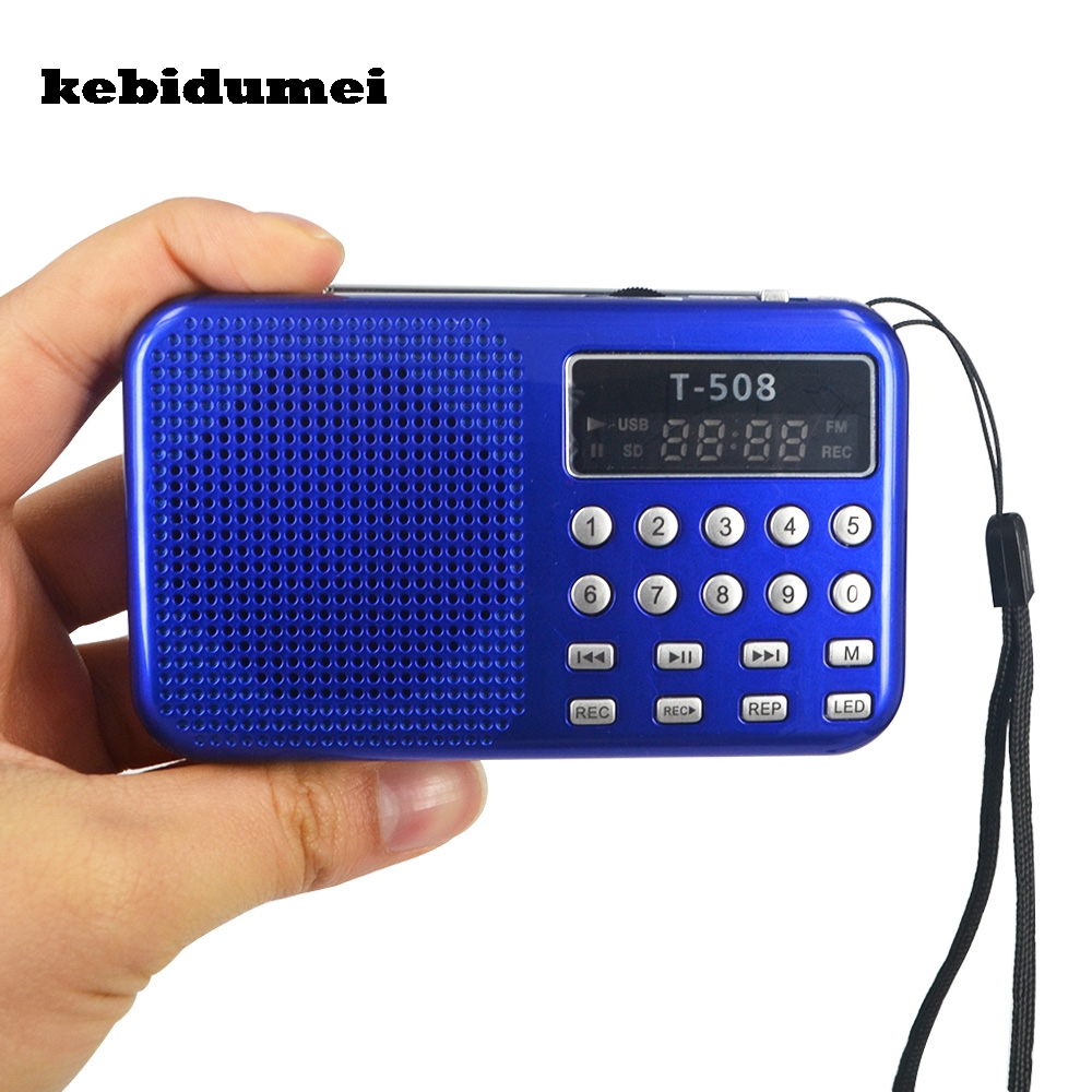kebidumei new mini portable led stereo rechargeable. Black Bedroom Furniture Sets. Home Design Ideas