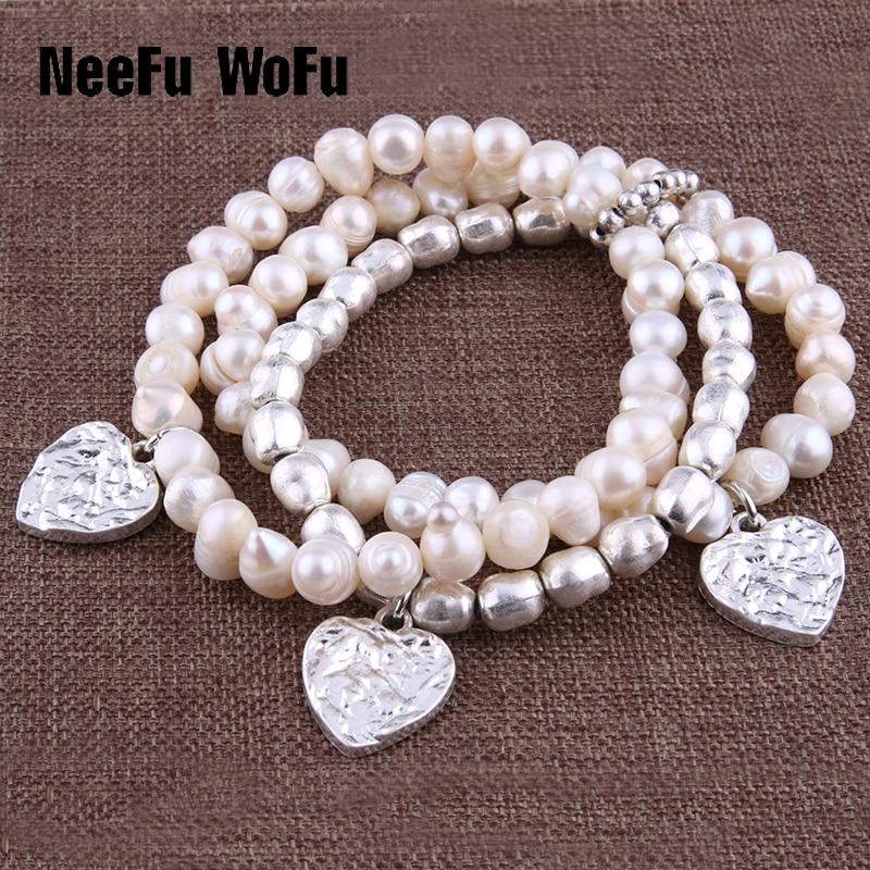 """Apyrankės """"NeeFu WoFu"""", 8mm, natūralus, perlas, cinkas"""