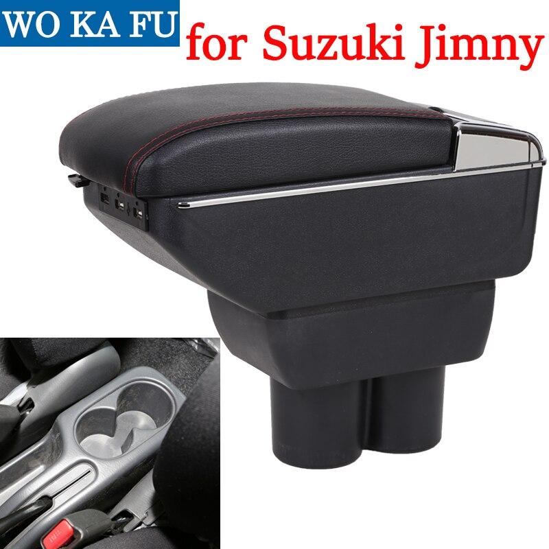 for Suzuki Jimny armrest box universal car center console caja  modification accessories double raised with USBfor Suzuki Jimny armrest box universal car center console caja  modification accessories double raised with USB