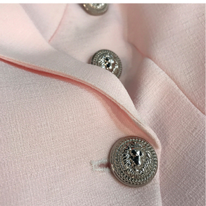 Image 4 - HIGH QUALITY New Fashion 2020 Baroque Designer Blazer Jacket Womens Silver Lion Buttons Double Breasted Blazer Outerwear