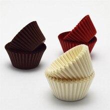 500/1000 шт шоколадные бумажные булочки для кексов, лайнер для выпечки, чашки для торта, подставка для украшения, вечерние, свадебные, для кексов
