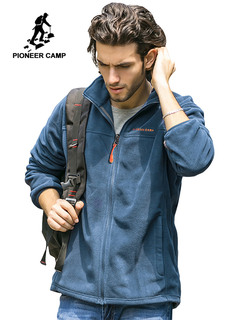 Pioneer Camp fleece warm jacket men brand clothing autumn winter coat male top quality outerwear for men 520500A