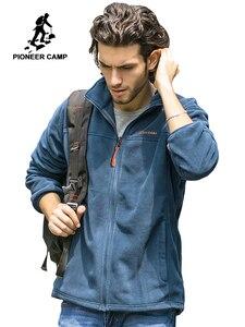 Image 1 - Мужская Флисовая Куртка Pioneer Camp, теплая брендовая одежда, пальто для осени и зимы, верхняя одежда высокого качества, 520500A