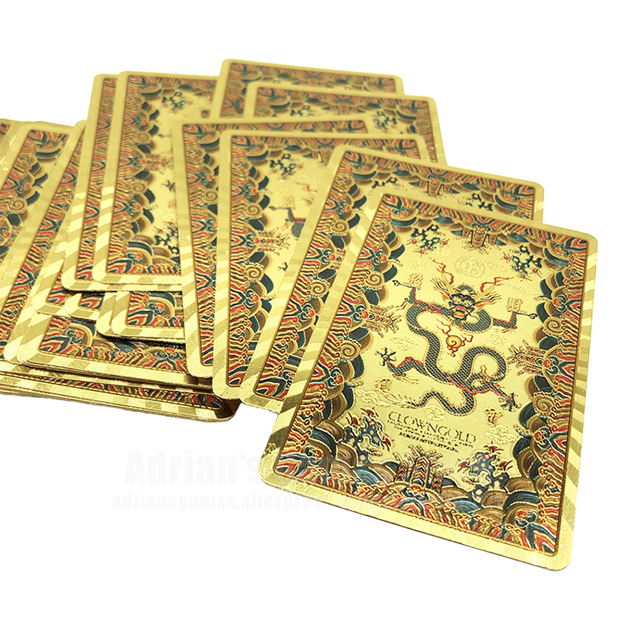 Golden Dragon Plastic Playing Cards Gold PVC Poker Cards