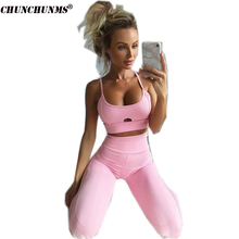 2017 Autumn Winter Tank Top And Trouser Woman Set Fitness Slim Bandage Female Woman Tracksuits Sexy Short Top And Pant S33