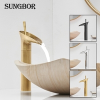 Wine Glass style Single Lever waterfall Bathroom Basin Faucet Brass Antique Hot and Cold bathroom Sink Mixer Taps AL 7129F