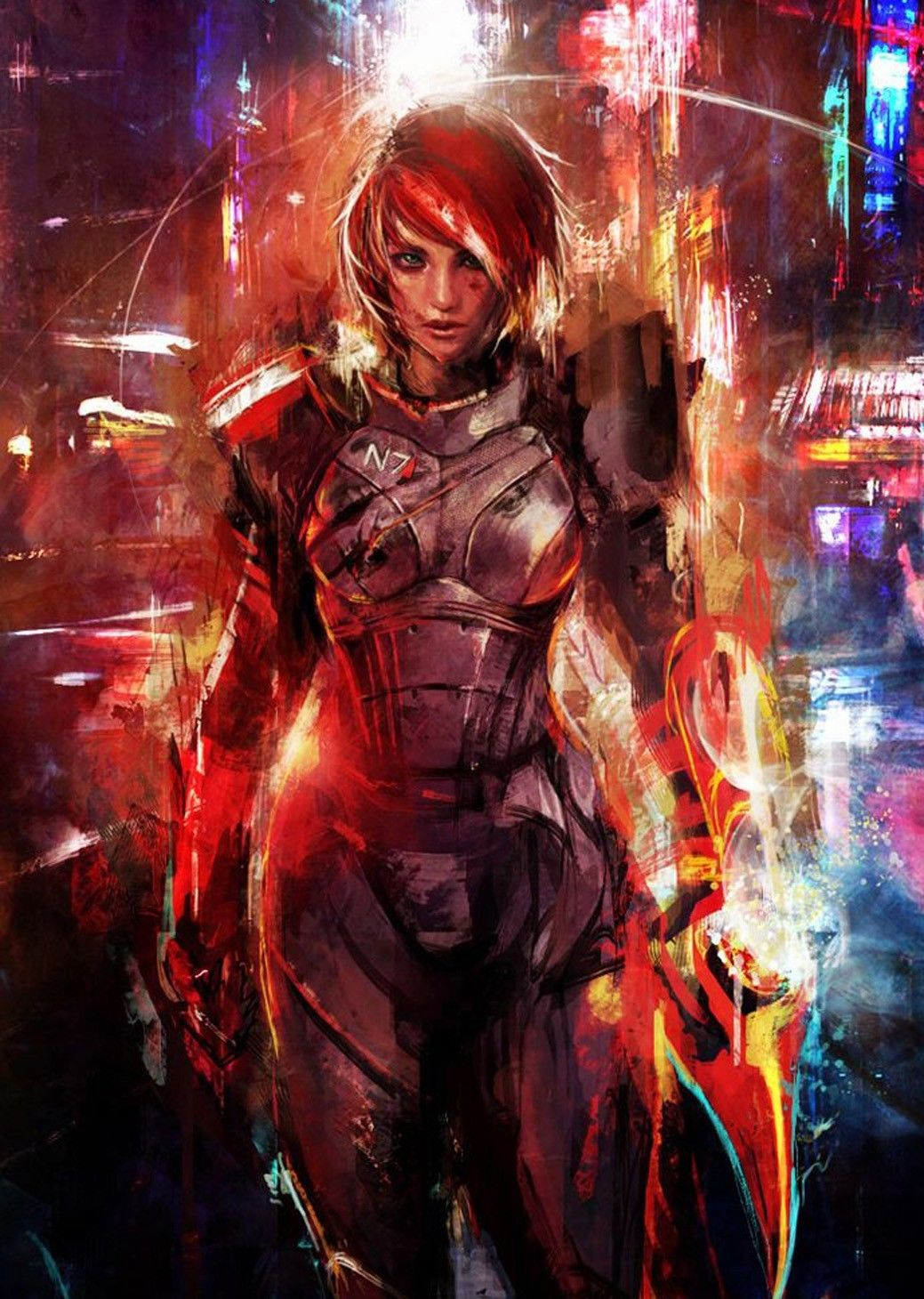Mass Effect 3 4 Game Space War Fabric poster 17x 13 Decor 140