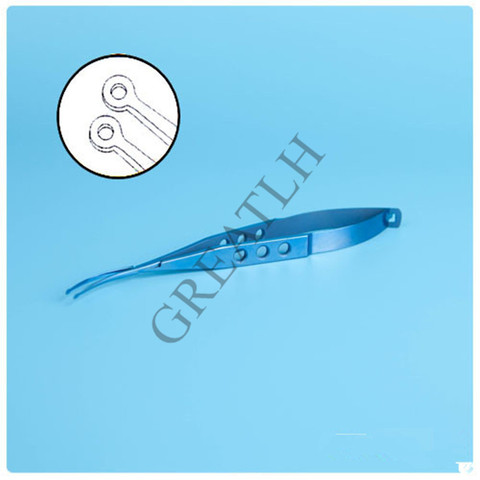 titanio oftalmica shepard forceps lente 120 milimetros de