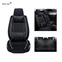 Flash Mat Universele Lederen Auto Stoelhoezen Voor Nissan Note Qashqai J10 Almera N16 X Trail T31 Navara D40 murano Teana J32
