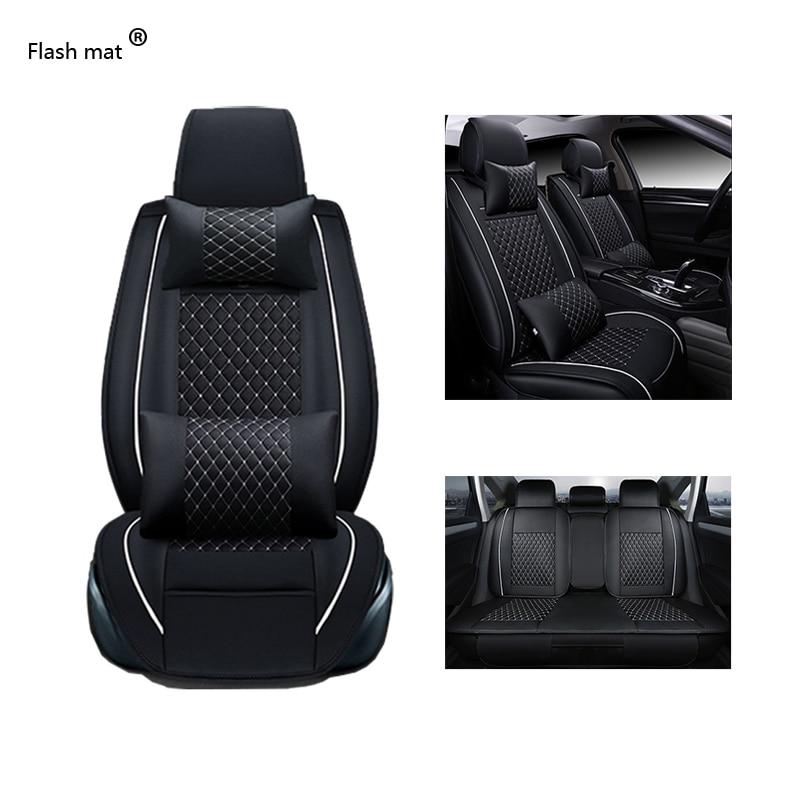 Flash mat Universal Leather Car Seat Covers for Nissan note qashqai j10 almera n16 x-trail t31 navara d40 murano teana j32 цены онлайн