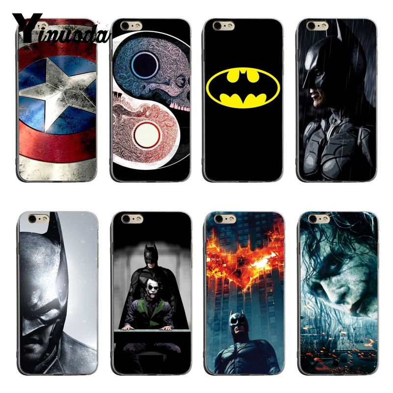 Yinuoda Marvel Super Hero Batman Iron Man On Sale Luxury Cool Phone Case For iPhone XSMax X XS XR 7 7Plus 8 8plus 6 6s 6plus marvel glass iphone case
