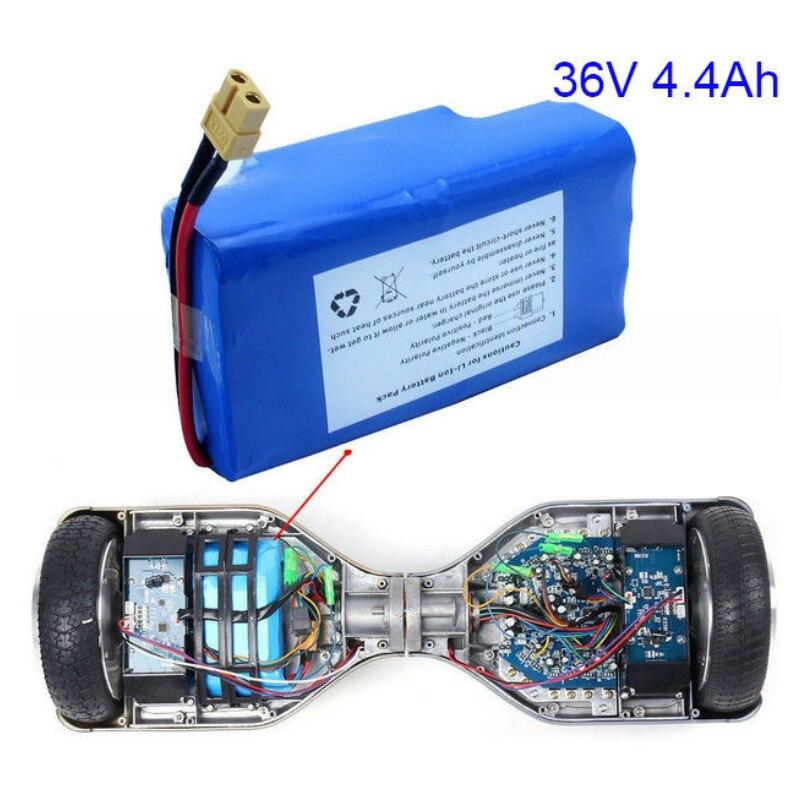 Remplacement de batterie Li-Ion 4-4Ah 36 V pour auto-équilibrage compatible 6.5 ''7'' 8''