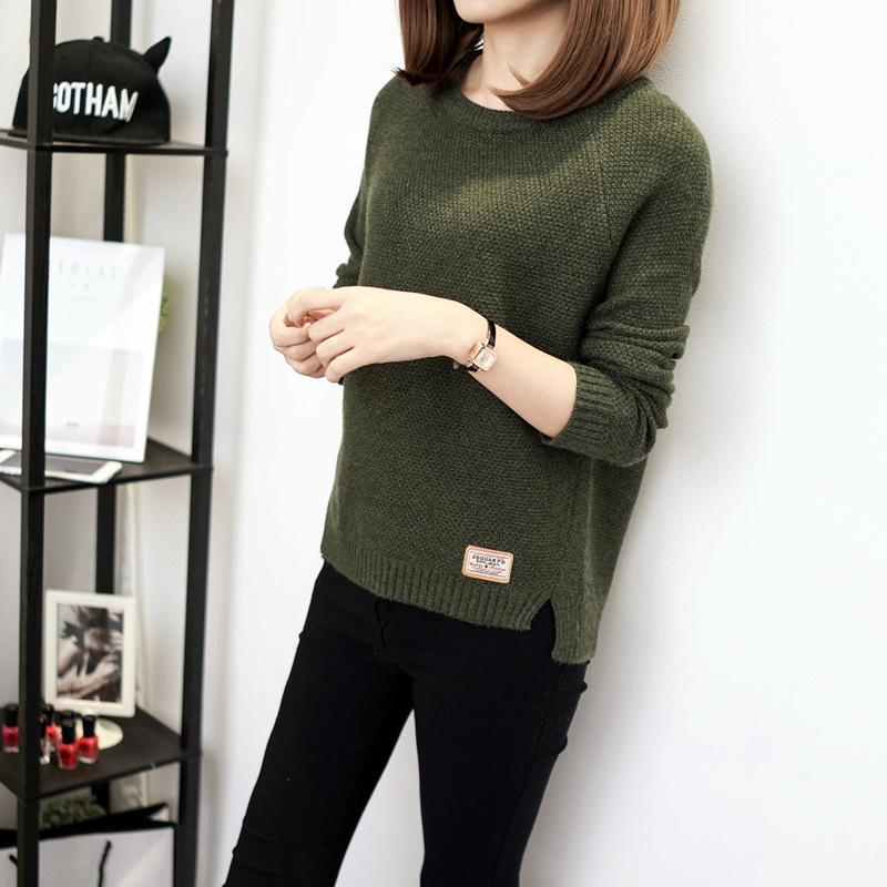 Autumn sweater 19 Winter women fashion sexy o-neck Casual women sweaters and pullover warm Long sleeve Knitted Sweater 4