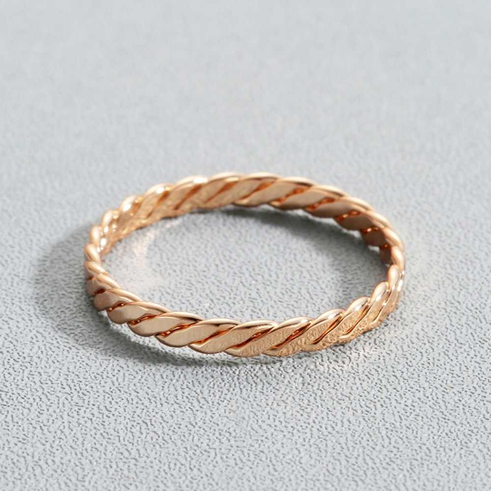 Kinitial Cross Rings Infinity Twist Wedding Band in Gold Ring Women's Fashion Exquisite Knuckle Finger Around Jewelry Gifts