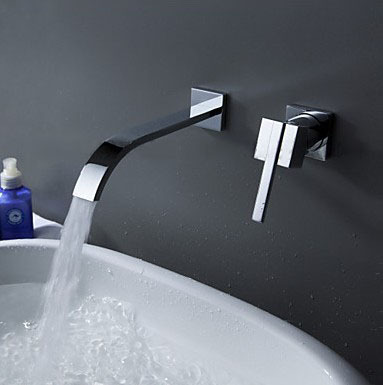ФОТО HongJing Type Two-piece Full Copper Is Little Tube Cold Hot Mix Water Single Handle Basin Faucet Manufacturers Selling Wholesale